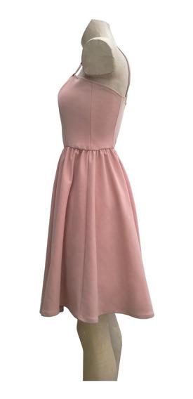 Vestido Corto Rosa Elastizado