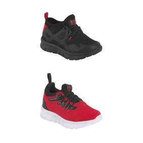 Tenis Casual Urban Shoes 2613 Kit Negro / Rojo 821113