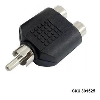 Convertidor Adaptador Rca Macho A 2 Hembra Audio Av W11