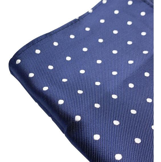 Pañuelos Bolsillo Caballero Seda Poliéster Azul Marino Moda