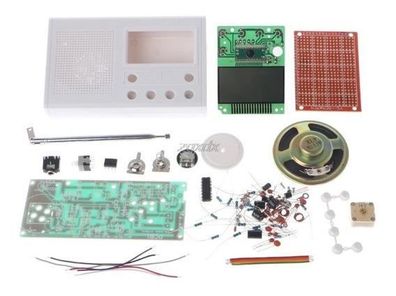Kit Para Montar Rádio Relógio Fm Digital Despertador Branco