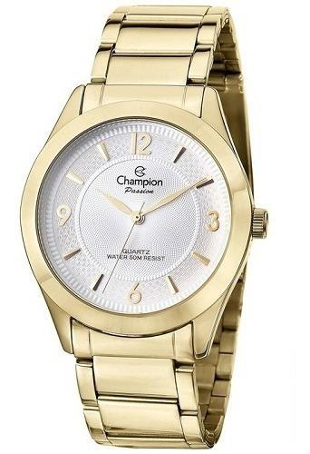 Relógio Champion Feminino Dourado Cn28866h Barato Original