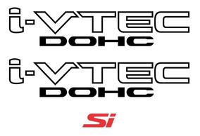 Kit Adesivo Honda New Civic I-vtec Dohc + Si