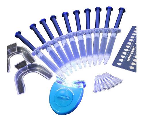Kit Clareamento Dental 44% 10ser Clareador O+completo C/mold