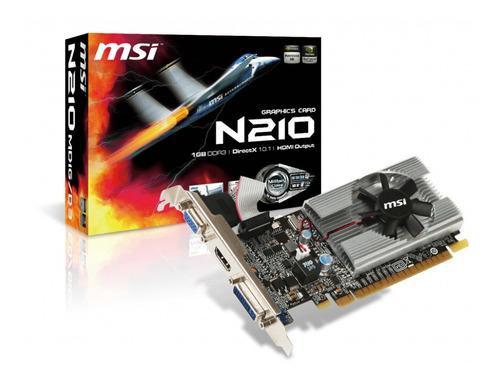 Tarjeta De Video Msi Nvidia Geforce 210, 1gb Ddr3 64-bit, Hd