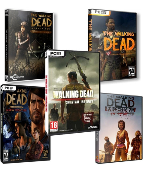Mega Combo: 5 Jogos The Walking Dead - Pc Dvd - Frete Grátis