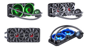 Water Cooler Pcyes Nix 240mm 2 Cooler Led Rgb 120mm