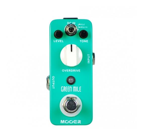 Pedal Guitarra Baixo Overdrive Mooer Green Mile Chip Jrc4558