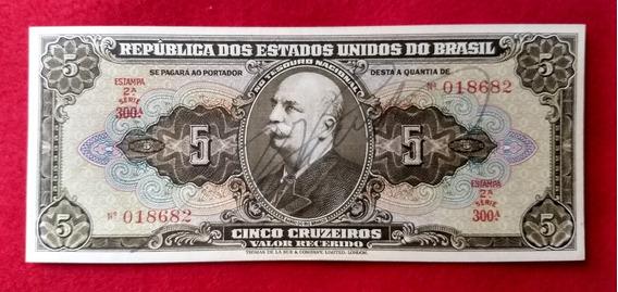 Cédula Brasil 5 Cruzeiros Autografada C065