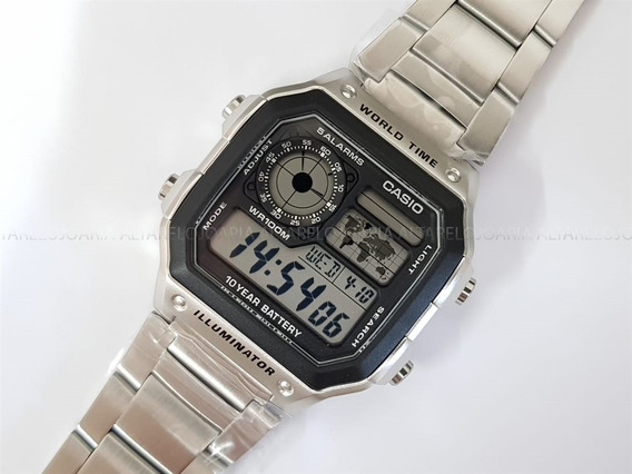 Relógio Masculino Casio World Time Ae-1200whd-1av