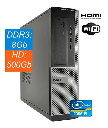 Pc Cpu Dell 3010 Core-i5 8gb Hd 500gb 3ºg Ddr3 Wind10 Novo