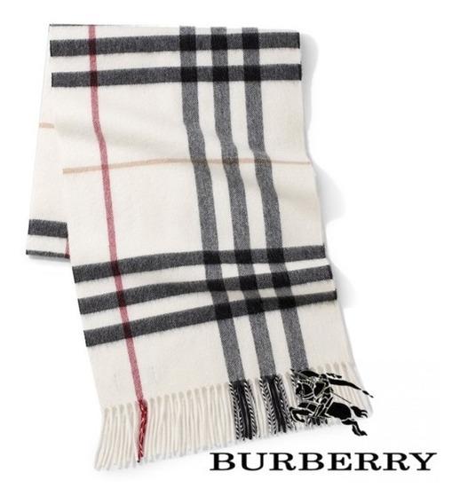 *fashionstore* Bufanda Burberry Unisex Cashmere Incluye Caja