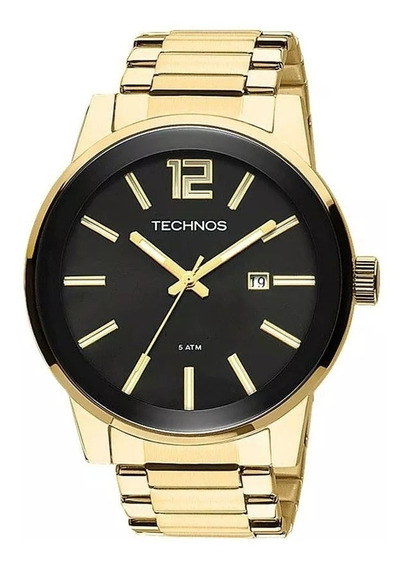 Relógio Masculino Technos Original Dourado 2115tt/4p- Oferta