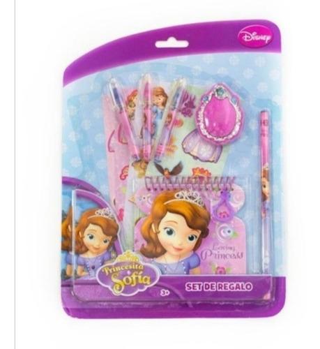 Princesa Sofia Set De Regalo Stickers Block Lapiceros Niñas