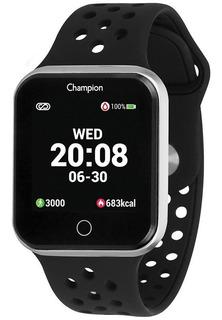 Relogio Champion Smartwatch Preto/prata 1 Ano Garantia