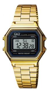 Reloj Q&q By Citizen Digital Vintage Dorado M173j003