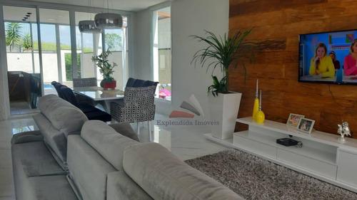 Casa Com 3 Dormitórios À Venda, 220 M² Por R$ 1.380.000 - Aruã Brisas - Mogi Das Cruzes/sp - Ca0336