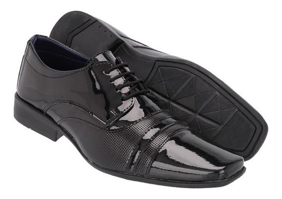 Sapato Social Masculino Em Verniz Ref :871