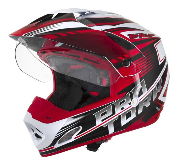 Capacete Cross Th1 Vision Adventure - Pro Tork *