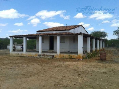 Fazenda Com 1 Dormitório À Venda, 530000 M² Por R$ 120.000 - Distrito De Algodoes - Sertânia/pe - Fa0003
