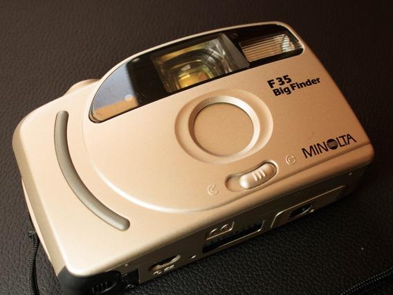 Câmera ( Revisada ) Fotográfica Minolta F35 Big Finder