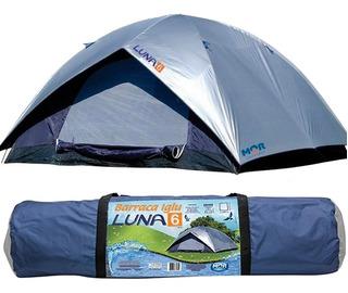 Barraca Camping Tenda Iglu Luna 6 Lugares Acampamento Praia