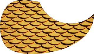 Escudo Palheteira Resinada Violão Aço Gipsy Golden Roof