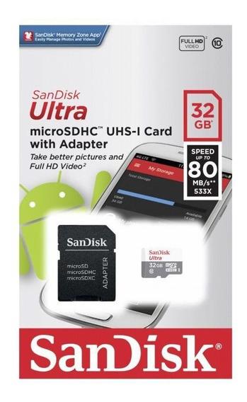 Cartão De Memória Micro Sd Classe 10 32gb Sandisk Ultra