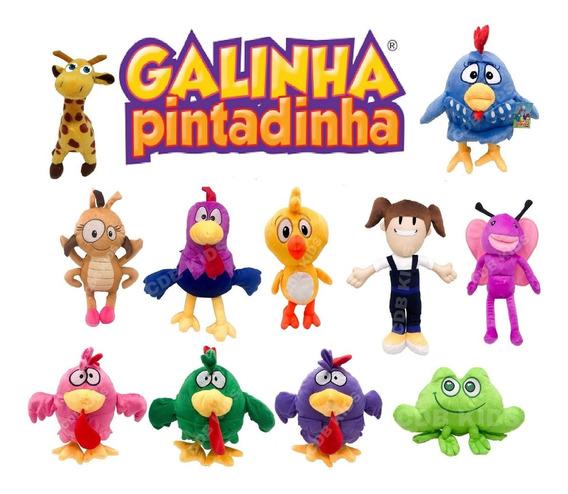 Kit Com 6 Pelúcias Turma Da Galinha Pintadinha