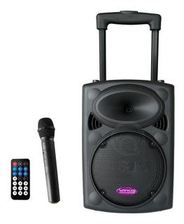 Parlante Potenciado Portable Winco C/ Carrito Y Microfono