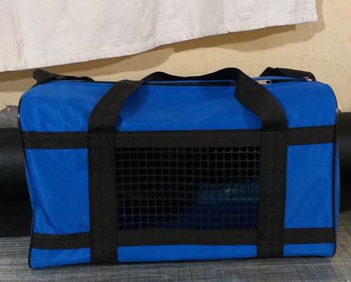 Bolso Transportador Mascota Color Azul Francia
