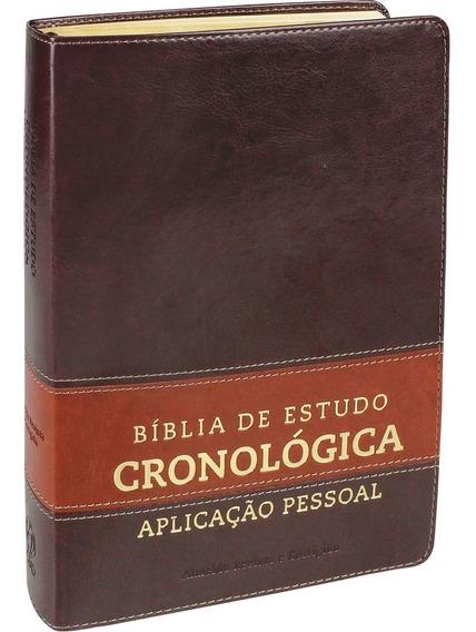 Bíblia De Estudo Cronológica Aplicação Pessoal - Cp Marrom