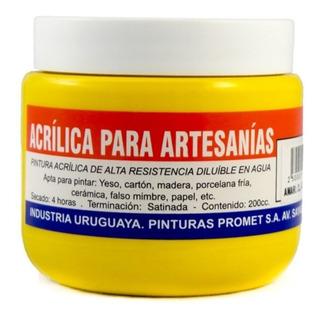 Pintura Acrílica Artesanías 200 Cc Promet - Varios Colores