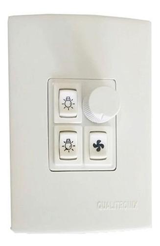 Imagem 1 de 3 de Controle Ventilador De Teto 2 Lamps Qualitronix Qv372