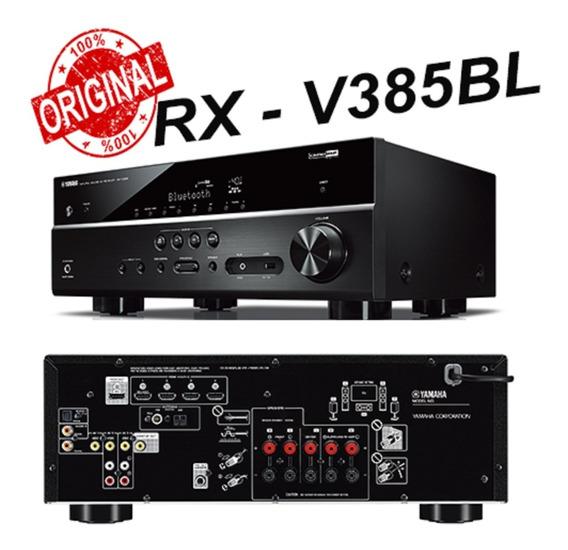 Receiver Yamaha Rx-v385bl 5.1ch 4k C/nf E Garantia De 1 Ano