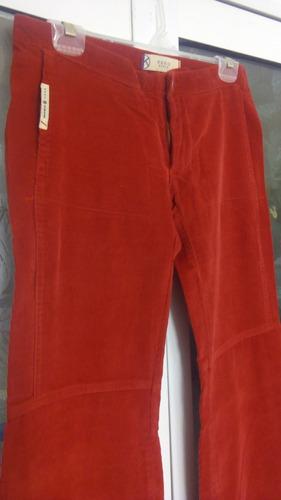 Pantalon Corderoy Rojo Tomate