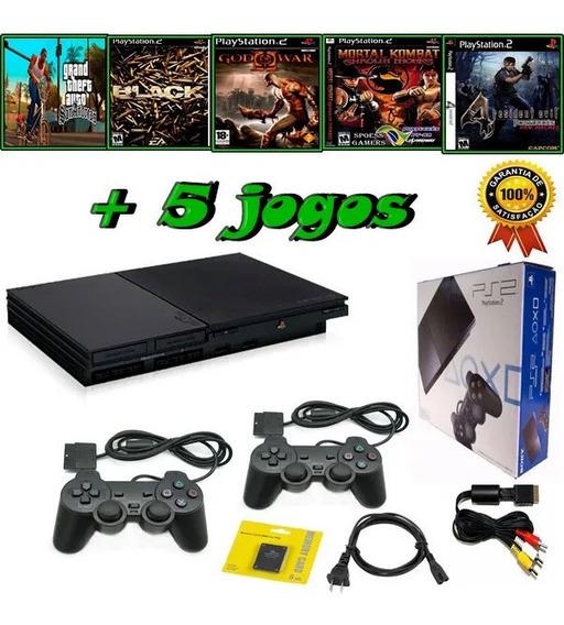 12x Sem Juros Playstation 2 + 2 Ctrls + 1 Memory Card+jogos