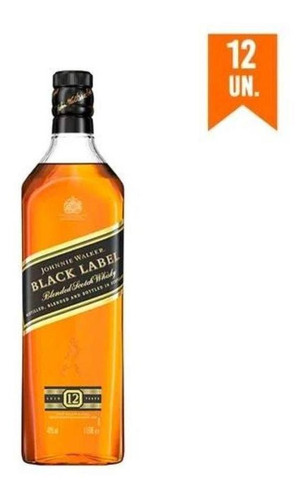 Imagem 1 de 1 de Kit Whisky Johnnie Walker Black Label 1l - 12 Unidades
