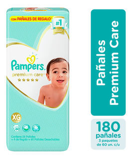 Pañales Pampers Premium Care Pack X3