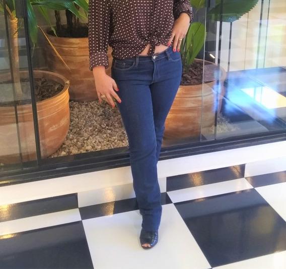 Calça Jeans Escura Com Elastano Iodice