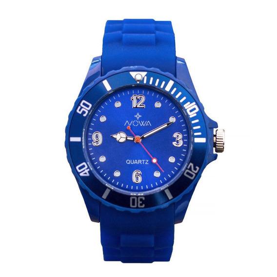 Relógio Nowa Masculino Azul Nw0522ak Original +frete