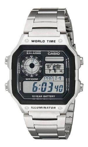 Reloj Casio Ae 1200whd 1a Caballero Hora Mundial  Original