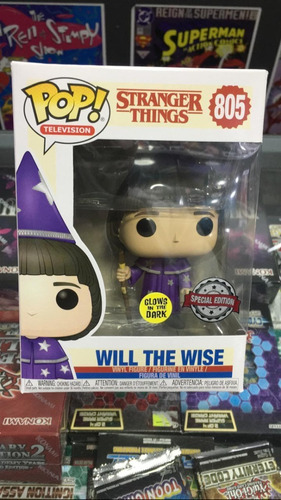 Funko Pop! Stranger Things - Will The Wise #805  Dark Glows