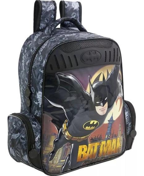 Mochila Batman Gothan Guardian G Infantil Costas Menino 7592