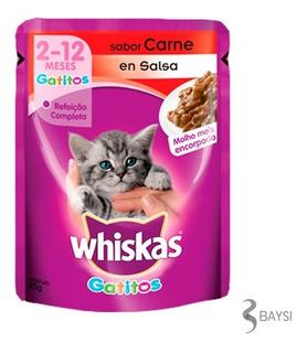 Comida Para Gato De 2 A 12 Meses Sabor Carne - Whiskas