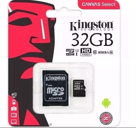 Cartão De Memória Kingston 32gb Classe 10 Ultra Velocidade.