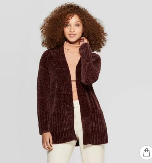 Cárdigan Mujer Suéter Ensamble Afelpado Talla Xs 28-30