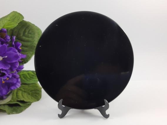 Espelho De Obsidiana Para Esoterismo E Coleção 117,0m.m J444