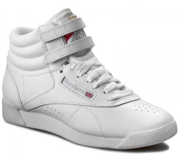 Tenis Bota Reebok Freestyle Blanca