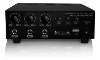 Amplificador Para Perifoneo Usb/sd Auxiliar 180wrms C Remoto